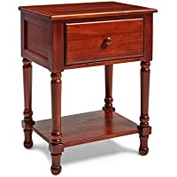 Mantua NSTC Victoria Wood Nightstand, Cherry Finish