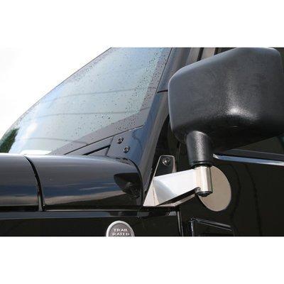 Rugged Ridge 11026.04 Stainless Mirror Relocation Bracket - (Mirror Filler Plate)