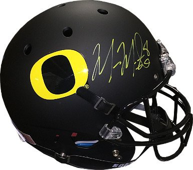 RDB Holdings & Consulting CTBL-020624 Marcus Mariota Signed Oregon Ducks Black Matte Schutt Full Size Replica Helmet No.8 from RDB Holdings & Consulting