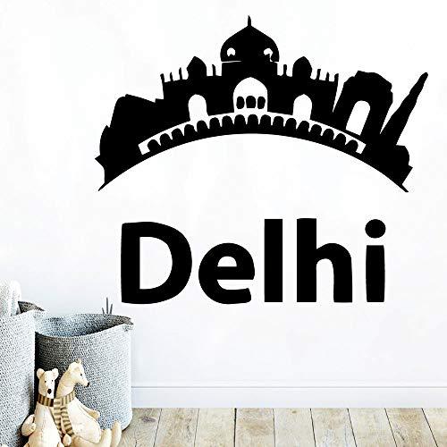 DIY Art Delhi Self Adhesive Vinyl Waterproof Wall Art Decal Stickers Wall Decoration Murals 57X65Cm