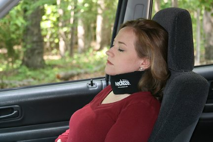 Neckeze Ultimate Travel Neck Pillow - Most Comfortable Cervical Collar Pillow (Salmon, Medium) ()