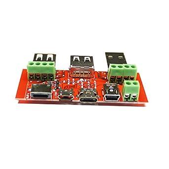YYONGAO Circuit Boards Juwei Type-C Micro USB Mini USB Cable Adapter Converter Board USB Tester Ammeter Capacity Monitor Instrument