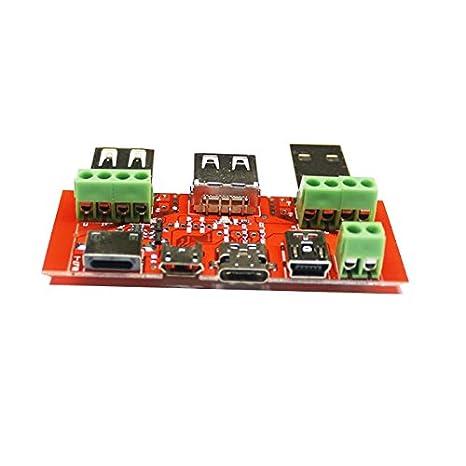 Dynamic Juwei Typ C Micro Usb Mini Usb Kabel Adapter Konverter Board Usb Tester Amperemeter Kapazität Monitor Instrument Gewerbe Industrie Wissenschaft