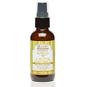 Shea Terra Namibian Marula Cold-Pressed Extra Virgin Oil | Nutrient-Rich, All Natural & Organic Oil with Essential Fatty Acid and powerful antioxidants for Dry and Mature Skin – 2 oz 121