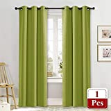 NICETOWN Green Curtain for Bedroom 84 inches Window