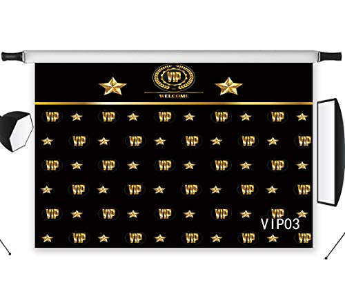 - LB VIP Backdrop for Photography 7x5ft Vinyl Royal Crown Black Hollywood VIP Photo Backdrops for Baby Shower Graduation Party Photo Studio Backgrounds Props