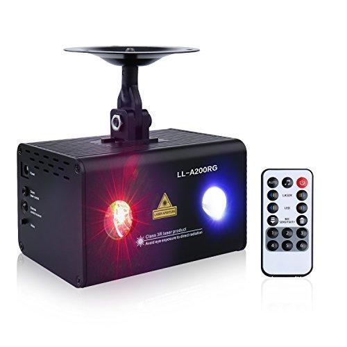 Decolighting Mini DJ RGB Laser Light with IR Remote - Aurora Mall