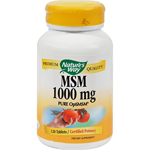 Nature's Way MSM - 1000 Milligram - Support Healthy Joint Function - 120 Vegetarian  Tablets -