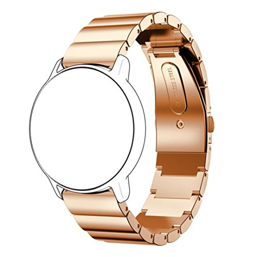 Recommendation Memela(TM)18MM for Huawei Asus Zen watch 2, Matching Genuine Stainless Steel Wristwatch Bracelet Strap Belt Replacement (Rose Gold)