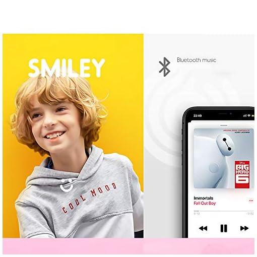 QINGMM Hoverboard, Auto Équilibrage Scooters avec Bluetooth Haut-Parleurs Et Lumières LED, Commande Leg Portable Scooter Électrique pour Adultes Enfants