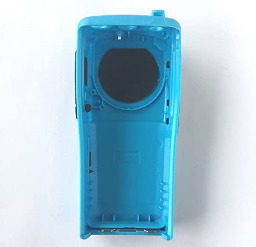 Blue Front Housing for Motorola CP200d 16 Channel Two Way Radio Walkie Talkie Case Replacement Refurbish Refurb Kit with Buttons Channel PTT Button Stickers