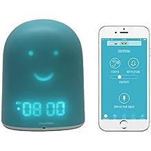UrbanHello REMI - 5-in-1 Baby and Children Sleep Tracker - Sleep Training Clock - Night Light & Music - Bluetooth speaker - Secure Two-Way Communication Baby Monitor - Sleep Trainer - Blue Color