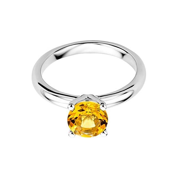 Miore – Anillo de oro blanco 9 k (375) con citrino Miore – Anillo de oro blanco 9 k (375) con citrino Miore – Anillo de oro blanco 9 k (375) con citrino