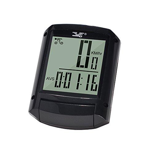 Wireless and Waterproof Bicycle Speedometer Black - 2