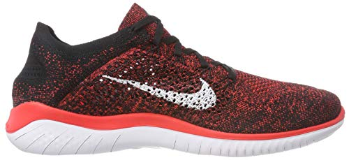 Free 2018 White Uomo Scarpe Flyknit Run Laufschuh Crimson Bright Black 602 da Running Nike Multicolore 5wpFR