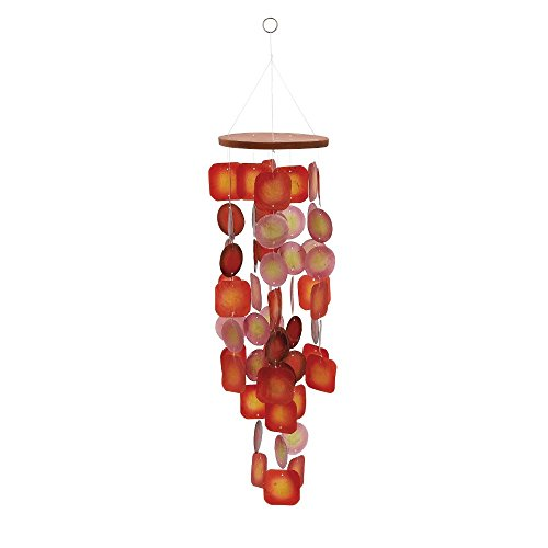 Deco 79 40381 Wood Capiz Wind Chime, 26