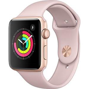 41vpYkSbC L. SS300  - Apple Watch Series 3 (GPS) 42mm Smartwatch (Gold Aluminum Case, Pink Sand Sport Band)