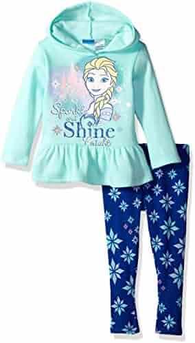 Disney Toddler Girls' Frozen 2-Piece Hooded Top and Legging Set