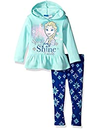 Toddler Girls' Frozen 2-Piece Hooded Top and Legging Set