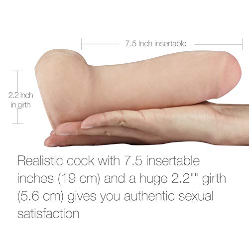 Penthouse FDA Approved Realistic Dildo Cyberskin Extreme Thick Cock Dong for Women, Men and Couples