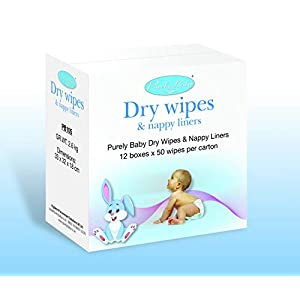 Purely Baby Dry Wipes and Nappy Liners 12 Pack Carton