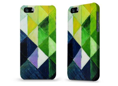 """Hülle / Case / Cover für iPhone 5 und 5s - """"farbige Karos"""" von August Macke"""