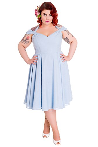 Hell-Bunny-Eveline-Light-Blue-Pinup-50s-Dress