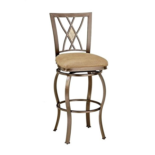 Hillsdale Furniture Brookside Diamond Back Swivel Counter Stool, Brown Powder Coat Finish For Sale