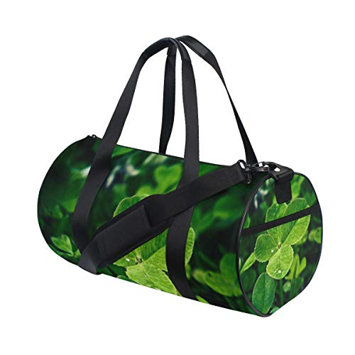 OuLian Gym Bag Lucky Four Leaf Clover Womens Yoga Canvas Duffel Bag Cute Sports Bag for Mens -