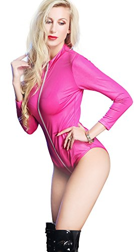 In Catwoman Tuta Seduttrice HGOOD Pelle Donna Sexy Da Zip Con Tuta Incl Gold Costume Sintetica Da wAAfqIS6a