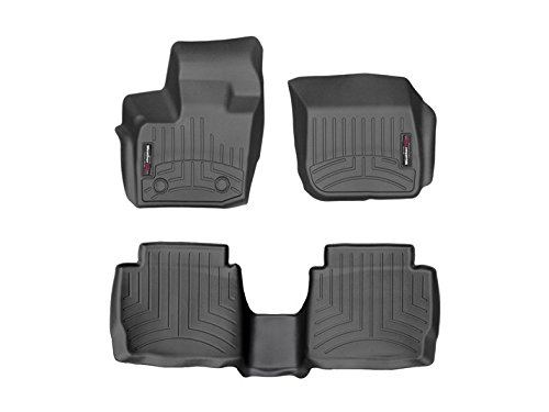 (2017 Ford Fusion Weathertech Custom Fit Front and Rear Floorliners - Black)