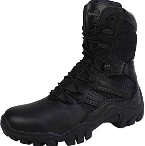 ジャングルブーツのCortexは暖かい通気性の高いヘルプレースアップスタイルの登山靴快適なクッション滑り止め耐摩耗ラバーソールをキープ (色 : 黒, サイズ : 27 CM)