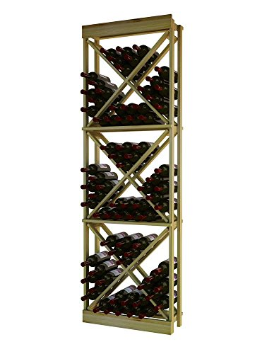 Wine Cellar Innovations RP-UN-ODC(G2)-A3 Traditional Series Open Diamond Cube Wine Rack, Rustic Pine, Unstained
