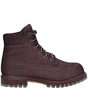 6 Inch Big Kid's TPU Outsole Waterproof Suede Premium Boots Dark Red tb0a1bkh