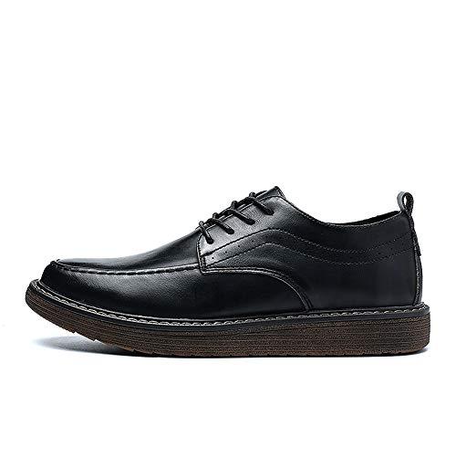 a Casual de británico Vintage con Formal Juego Color 40 los EU Shoes Superfine de Oxford Negro Negro Hombres el Fashion cinturón Jusheng Negocio tamaño Y5n6qxz