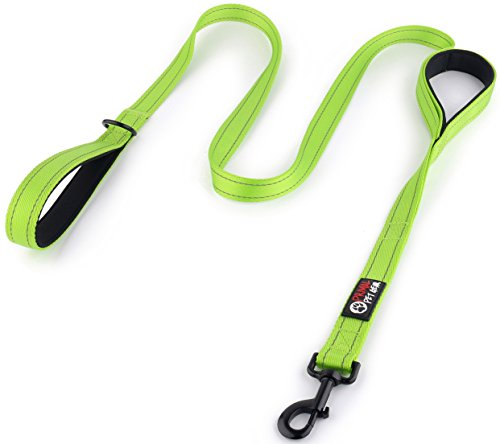 Primal Pet Gear Dog Leash 6ft long - Traffic Padded Two Handle - Heavy Duty - Double Handles Lead for Control Safety Training - Leashes for Large Dogs or Medium Dogs - Dual Handles Leads