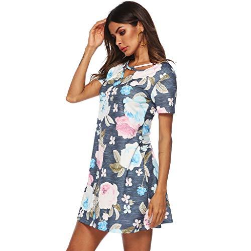 Tunica Dragon868 A Dress Brasiliana Multicolor Manica Vestito Mare Women Sleeve Printed Corta Beach Short Loose Floreale Mini Donna Spiaggia Estate Summer Eleganti 76gfyvYb