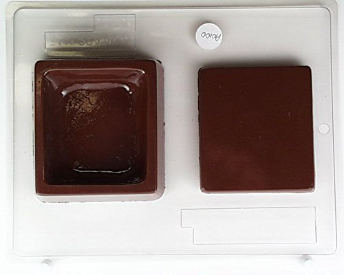 Blank square lid w/ Box AO100 All Occasion Chocolate Candy Mold (Chocolate Mold Box Bottom Pour)