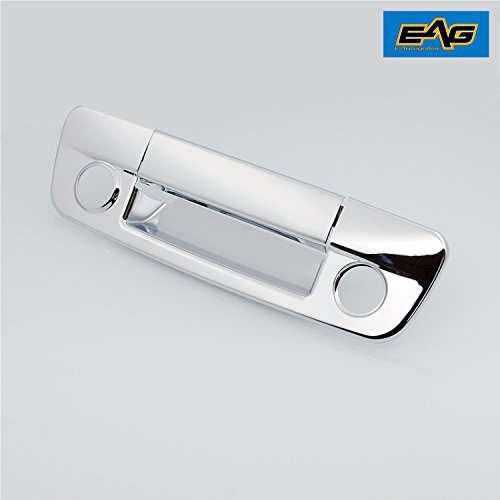 EAG 09-16 Dodge Ram 1500/10-16 Dodge Ram 2500/3500 Triple Chrome Plated ABS Tailgate Handle Cover With Keyhole & Camera Hole