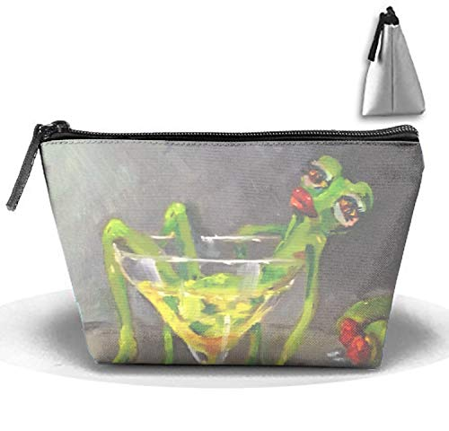 Drunk Frog Cosmetic Bag Trapezoidal Strorege Bag Creative Cosmetic Pouch