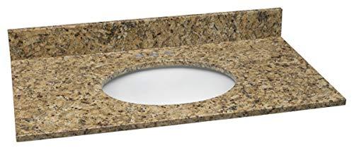 Design House 552430 Granite Vanity Top/Single Bowl, Venetian Gold, 49-Inch by 22-Inch