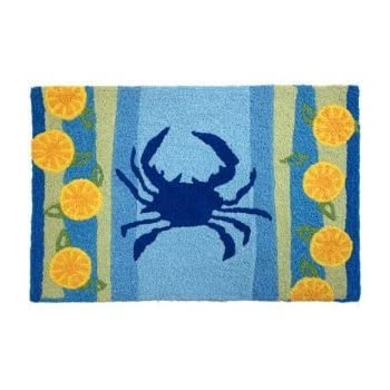 Amazon Com Jellybean Lemons Amp Blue Crab Accent Area Rug