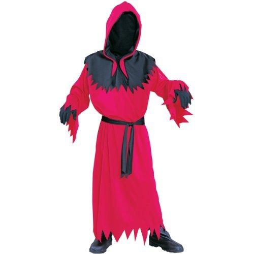 Unknown Phantom Child Unisex Costume Red Robe w/ Mesh Face ()