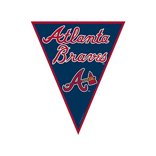 Amscan Major League Baseball Licensed Atlanta Braves Pennant Banner Party Decoration, Plastic, 12'