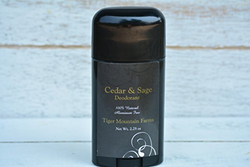 Aluminum Free Deodorant   Cedar & Sage Natural Deodorant Chic Deodorant