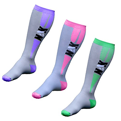 Graduated Compression Socks (Men and Women 1 pair) Best for Running, Nurses, Crossfit