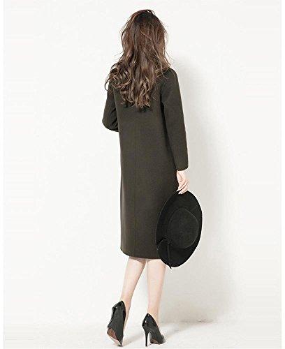 S cachemira L sobretodo invierno a black mano mujer ropa lana casual hecho largo nF4axv