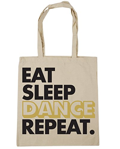 10 Sleep Shopping HippoWarehouse Natural Bag litres Gym Eat Beach Tote Repeat 42cm Dance x38cm PfaU5wq
