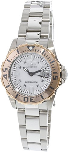 Invicta Women's 17382 Pro Diver 18k Rose-Gold and Silver-Tone Watch with Link Bracelet
