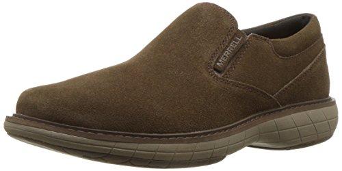 Merrell Dress Shoes - Merrell Men's World Vue Moc Suede Sneaker, Black Slate, 13 Medium US